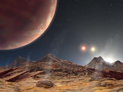 Vue d'artiste d'une exoplanete